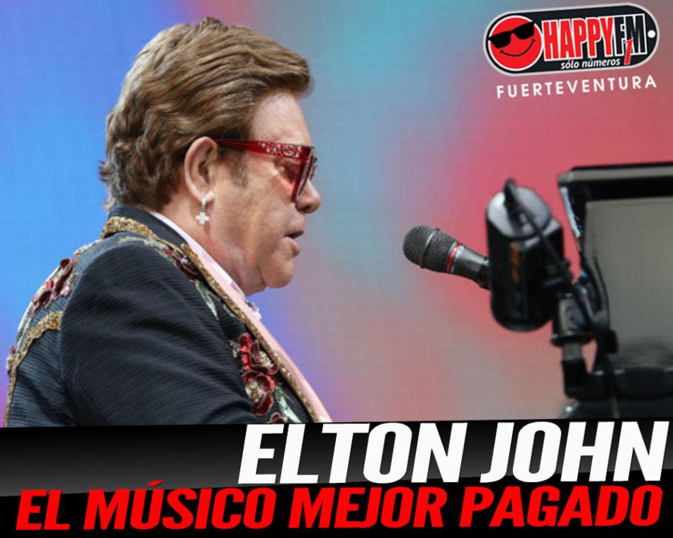 Elton John es el músico mejor pagado del año