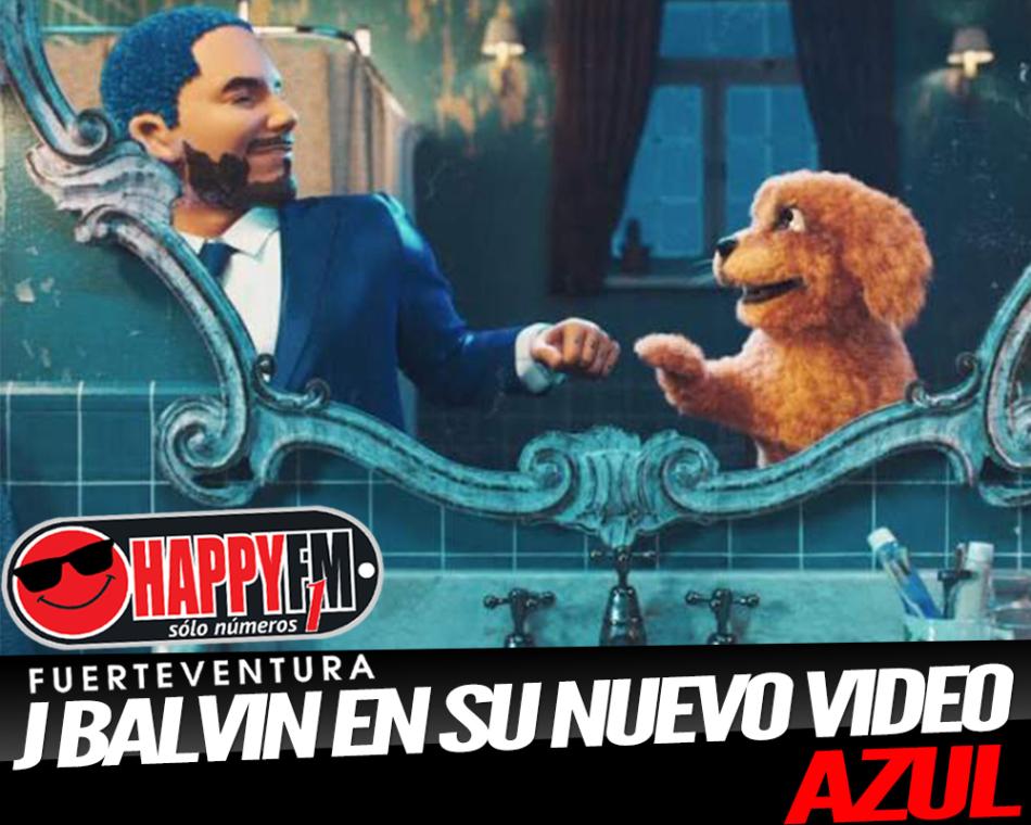 J. Balvin se convierte en un dibujo animado en el videoclip de 'Azul'