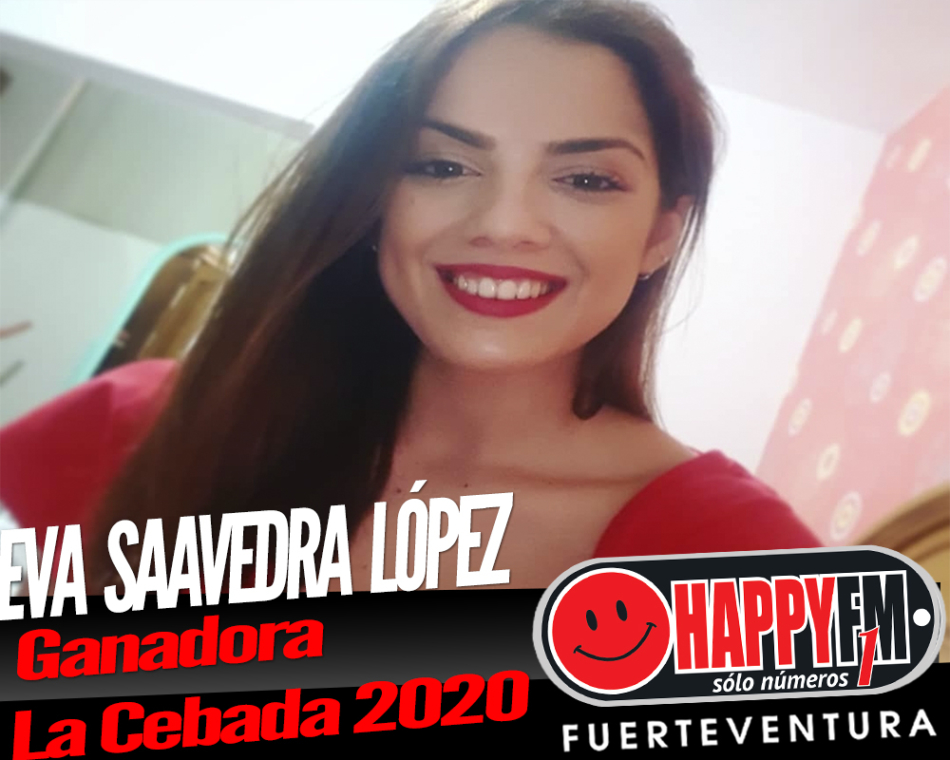 Eva María Saavedra López Ganadora del concurso de la canción de la Semana Cultural Playa de La Cebada 2020