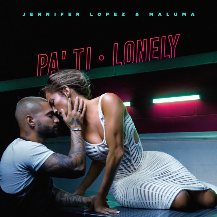 """Jennifer LopezyMaluma,unen sus voces para lanzar los sencillos""""Pa Ti""""y""""Lonely""""."""