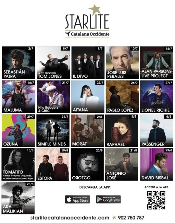 Passenger, Morat, Pablo López y Sebastian Yatra son algunos de los artistas confirmados para el Festival Starlite 2021
