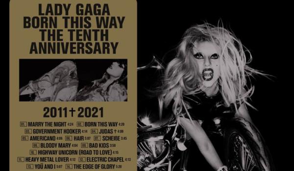 Lady Gaga anuncia la edición 10º aniversario del álbum 'Born This Way'